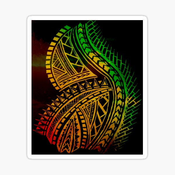 Love for Polynesian Tribal  Sticker