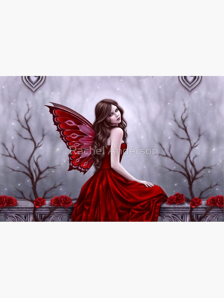Winter Rose Butterfly Fairy by silverstars