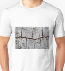 Old bark with cracks. Unisex T-Shirt