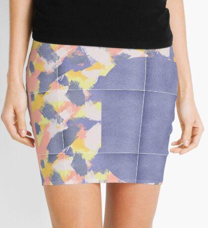 Messy Painted Tiles 01 #redbubble #midmod Mini Skirt