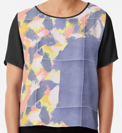 Messy Painted Tiles 01 #redbubble #midmod Chiffon Top