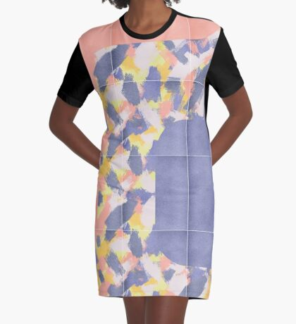 Messy Painted Tiles 01 #redbubble #midmod Graphic T-Shirt Dress