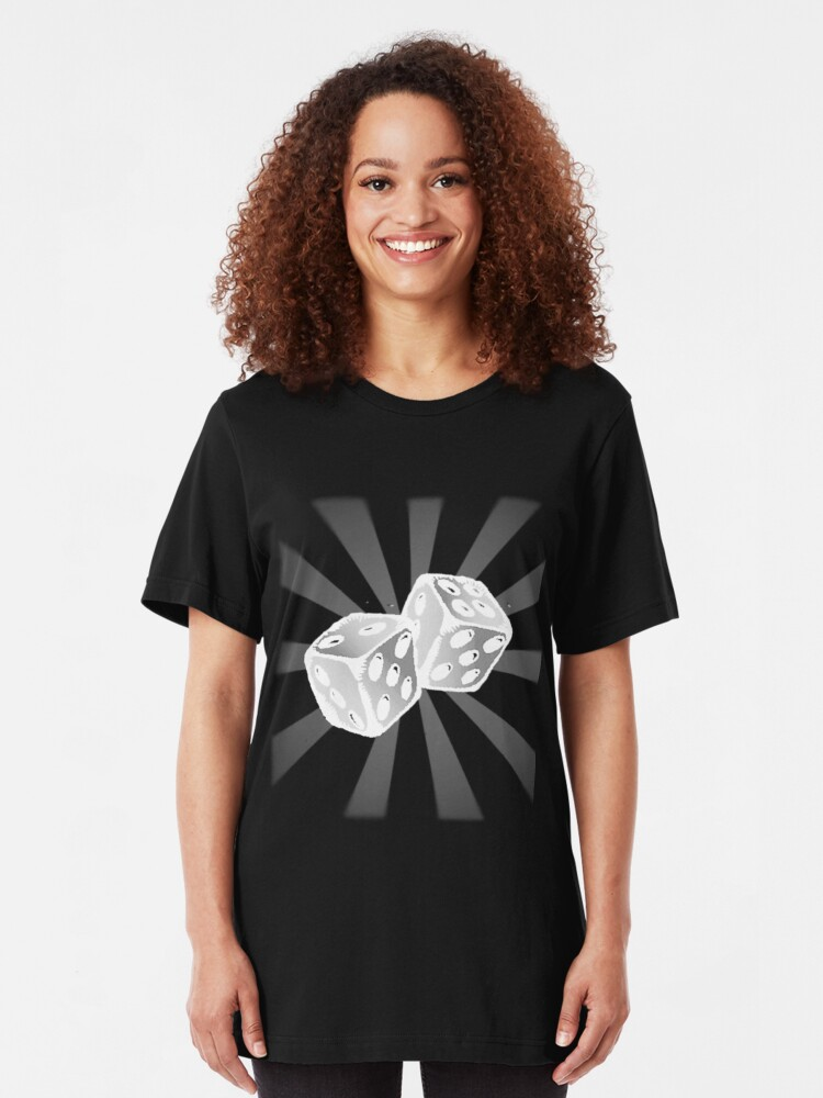 Alternate view of Role the Dice II. Slim Fit T-Shirt