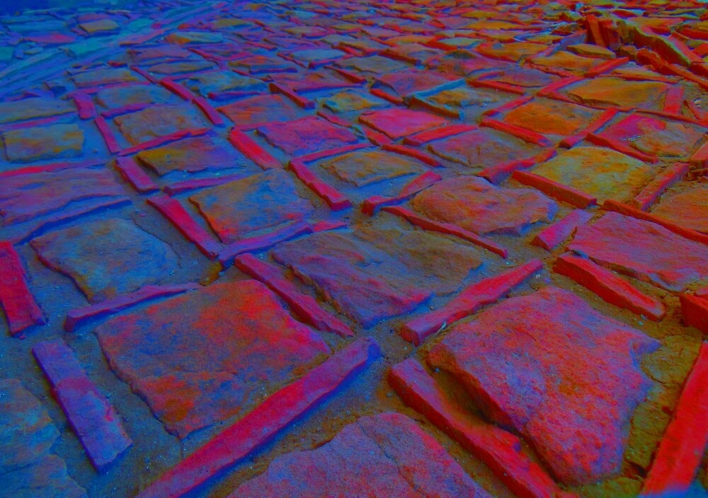 Square Stones Pathway Number 7 by Mike Solomonson