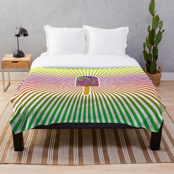 psychedelic popsicle ice helado glace funny t-shirt design Throw Blanket