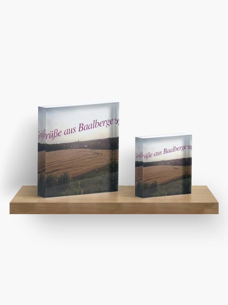 Alternative Ansicht von Grüße aus Baalberge Acrylblock