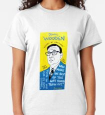 John Wooden Basketball Pop Folk Art Classic T-Shirt