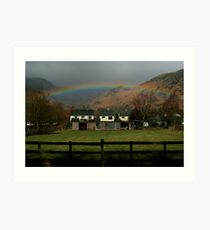 Coniston Rainbow Art Print