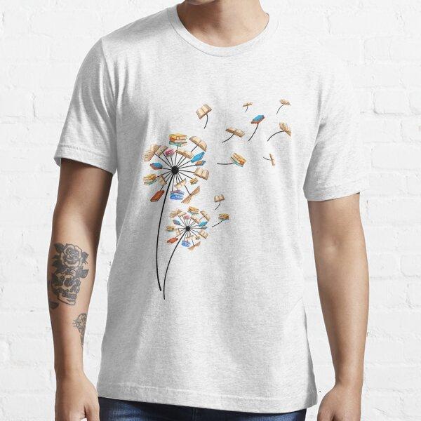 Dandelion Flower Books Fly Reading Gift T-Shirt Essential T-Shirt