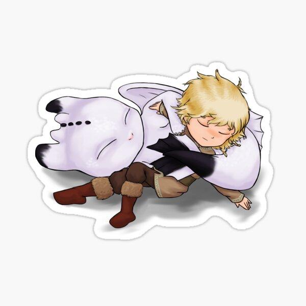 Sleepy Dragon Rider Sticker
