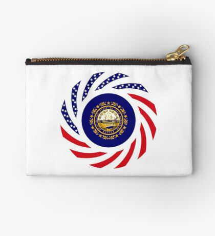 New Hampshire Murican Patriot Flag Series Zipper Pouch