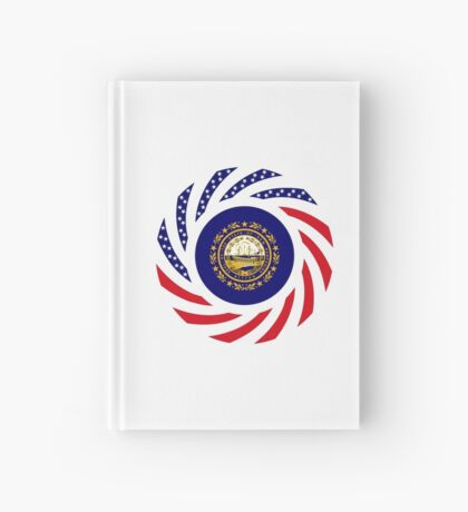 New Hampshire Murican Patriot Flag Series Hardcover Journal