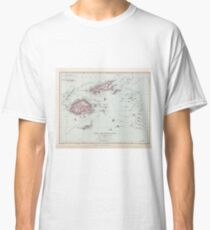 Vintage Fiji Map (1904) Classic T-Shirt