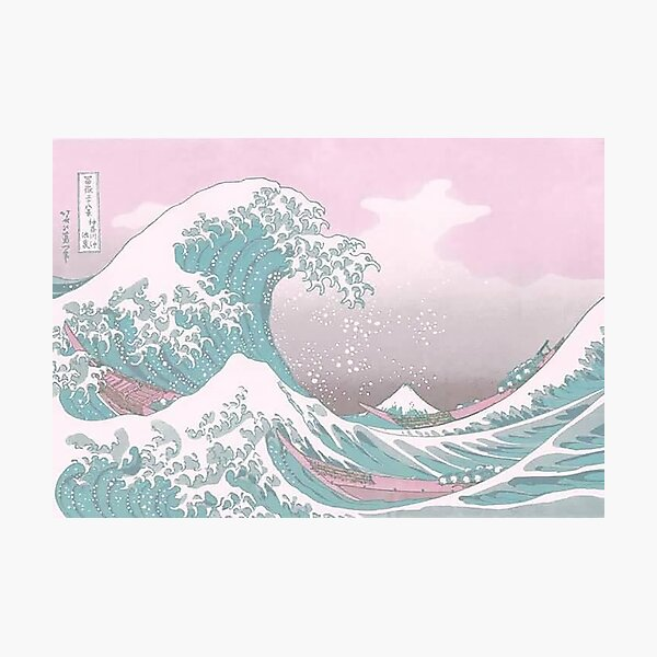 Pastel The Great Wave off Kanagawa Photographic Print