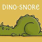 «Dino-ronquido - Ilustración de arte de dinosaurio de dibujos animados divertido» de carlbatterbee