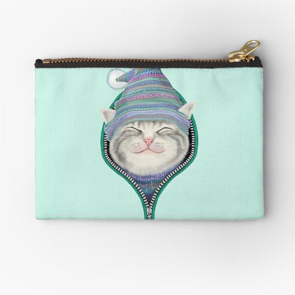 Cat in the zip Zipper Pouch