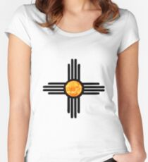 Zia Sun Symbol Women's Fitted Scoop T-Shirt
