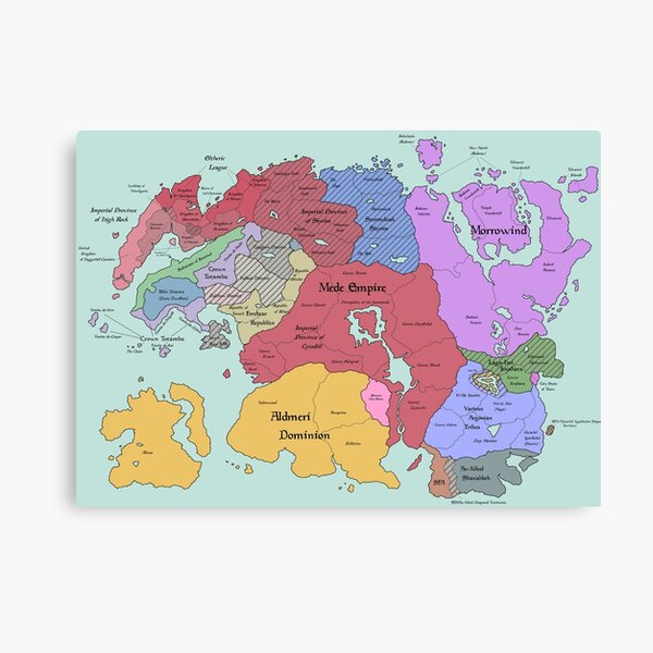 Map of tamriel  Canvas Print