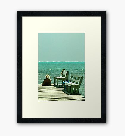 Another Great Day on the Caye Framed Print