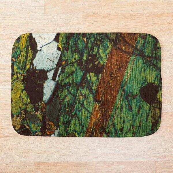 Twinned Pyroxene and Feldspar - Thin Section Art Bath Mat