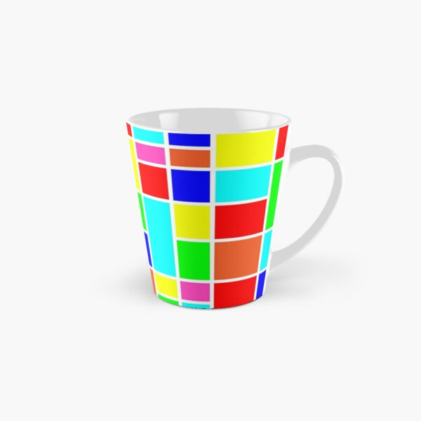 Colorful retro mondrian squares pattern  Tall Mug