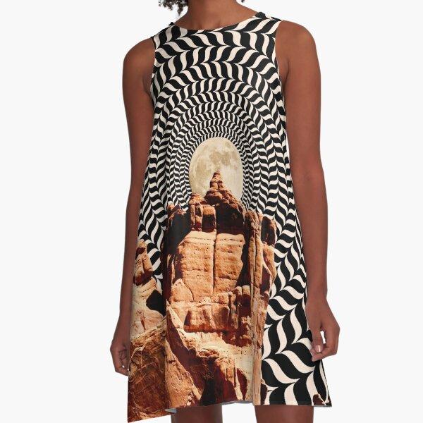 Illusionary Road Trip A-Line Dress