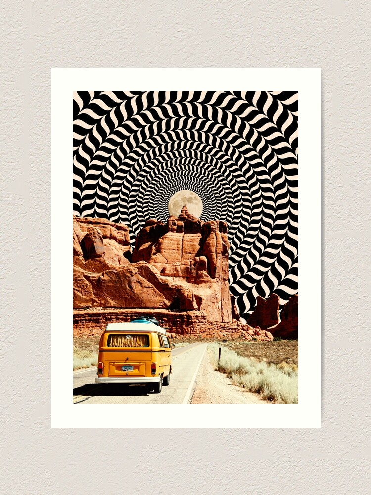 Alternate view of Illusionary Road Trip Art Print