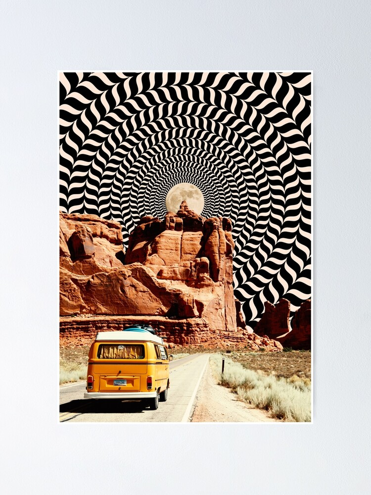 Alternate view of Illusionary Road Trip Poster