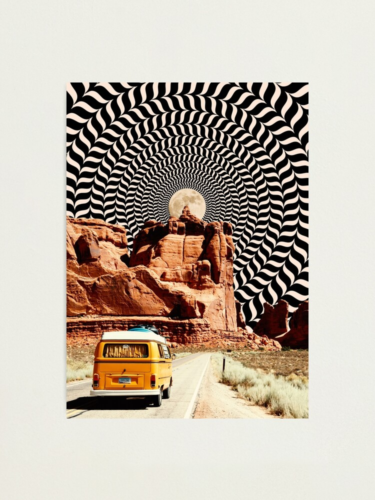Alternate view of Illusionary Road Trip Photographic Print