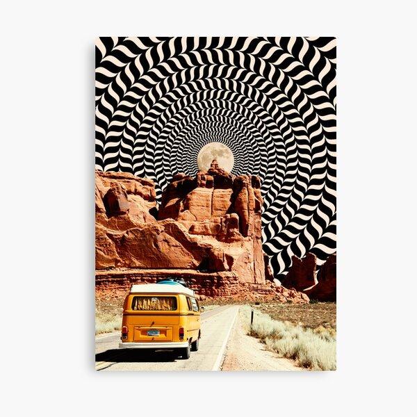 Illusionärer Road Trip Leinwanddruck
