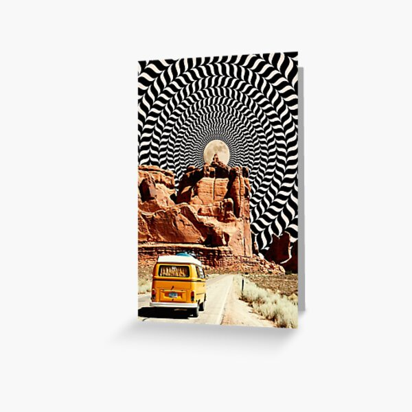 Illusionary Road Trip Greeting Card