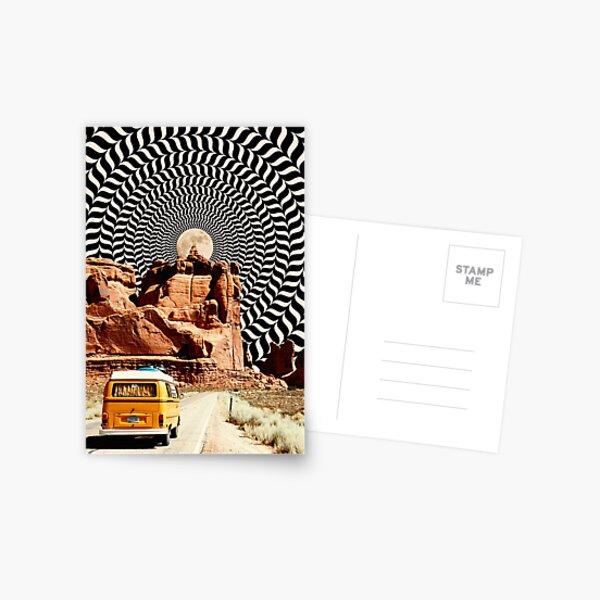 Illusionary Road Trip Postcard
