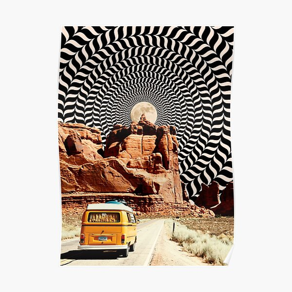 Illusionary Road Trip Poster