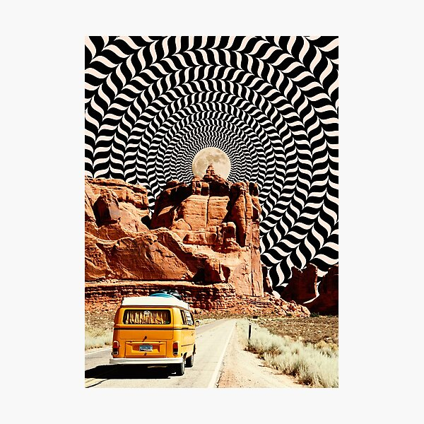 Illusionary Road Trip Photographic Print