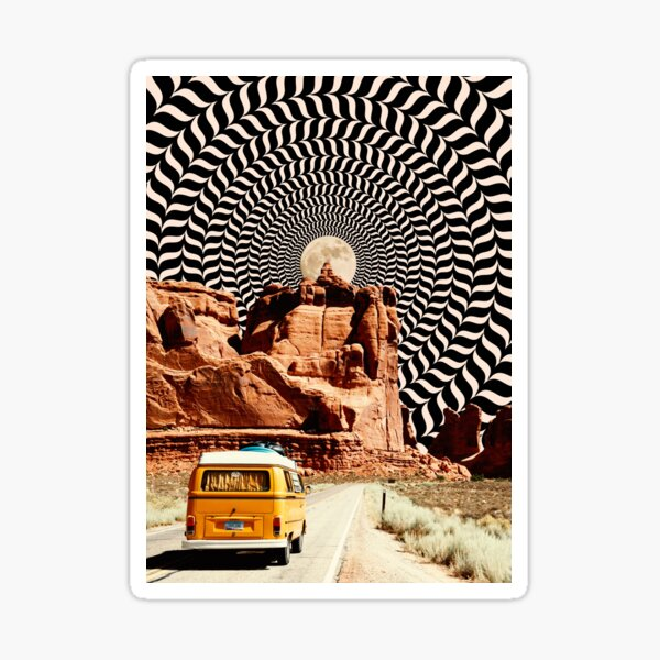 Illusionary Road Trip Sticker