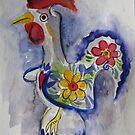 Good luck rooster by Karin Zeller