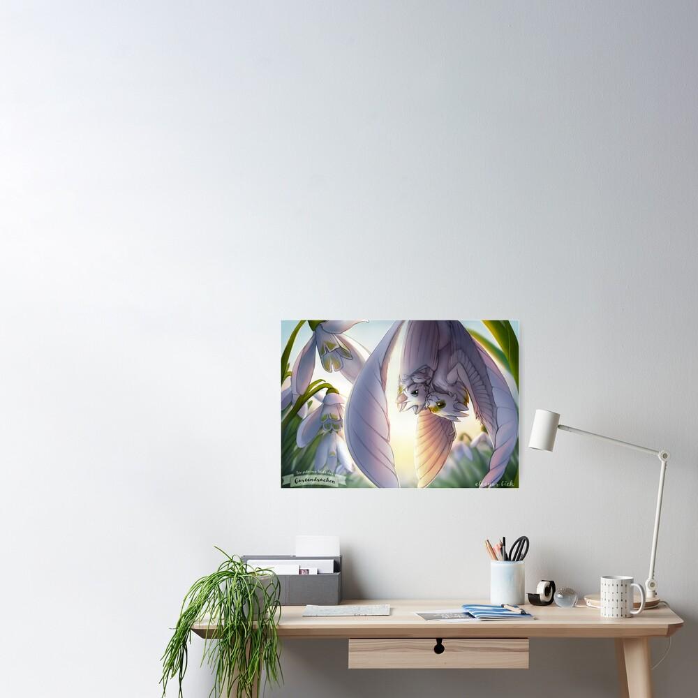Gardendragons - Snowdrop Dragons - Snowfeather Family Poster