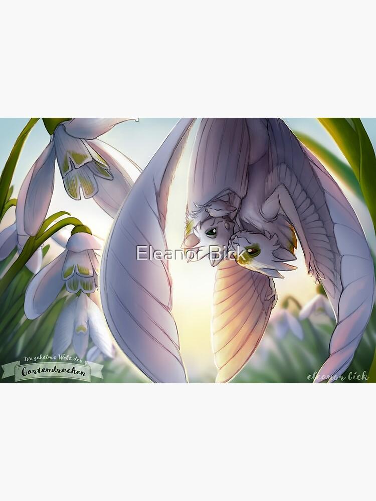 Gardendragons - Snowdrop Dragons - Snowfeather Family by EleanorTopsie