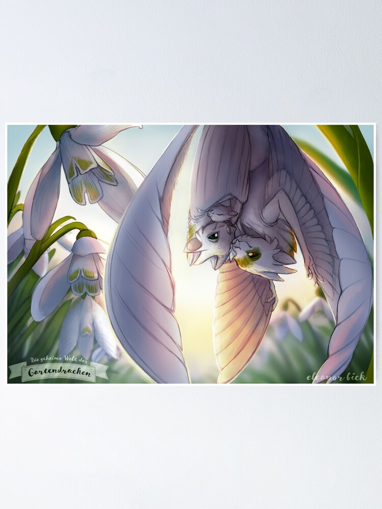 Alternate view of Gardendragons - Snowdrop Dragons - Snowfeather Family Poster