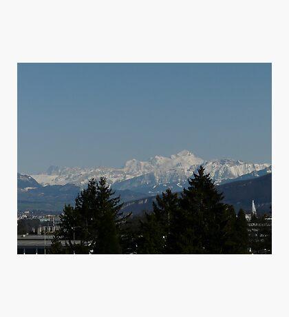 The background of Geneva Photographic Print
