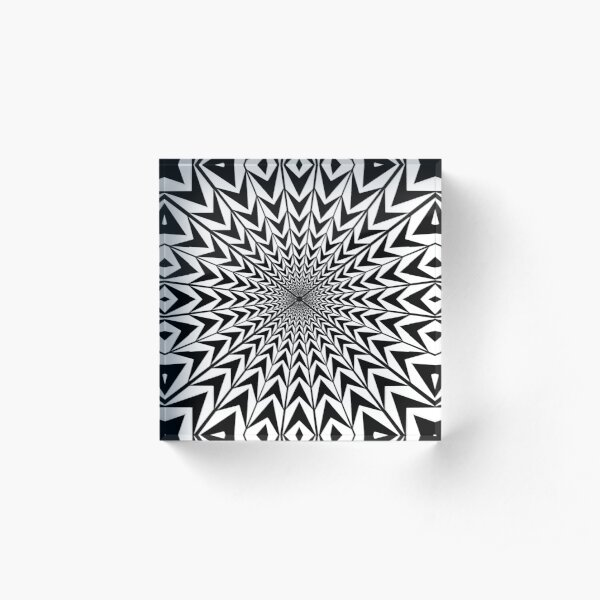 #Design, #abstract, #pattern, #illustration, psychedelic, vortex, modern, art, decoration Acrylic Block