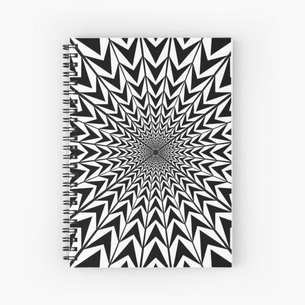 #Design, #abstract, #pattern, #illustration, psychedelic, vortex, modern, art, decoration Spiral Notebook