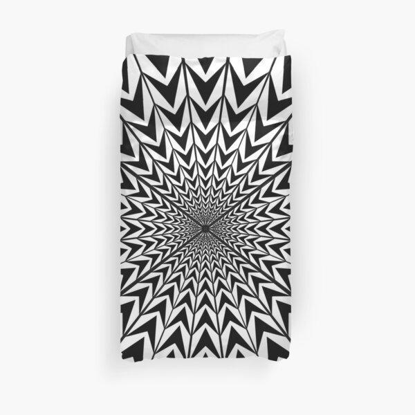 #Design, #abstract, #pattern, #illustration, psychedelic, vortex, modern, art, decoration Duvet Cover