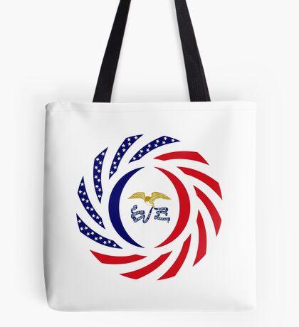 Iowa Murican Patriot Flag Series Tote Bag