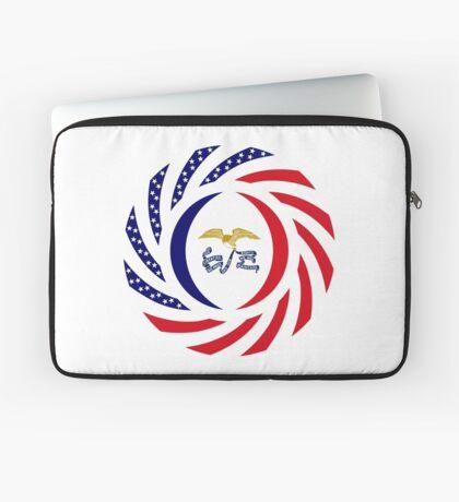 Iowa Murican Patriot Flag Series Laptop Sleeve