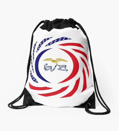 Iowa Murican Patriot Flag Series Drawstring Bag