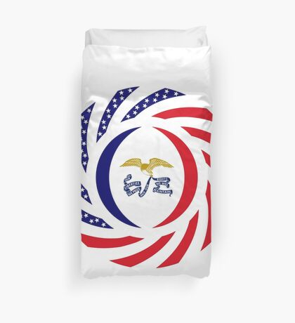 Iowa Murican Patriot Flag Series Duvet Cover