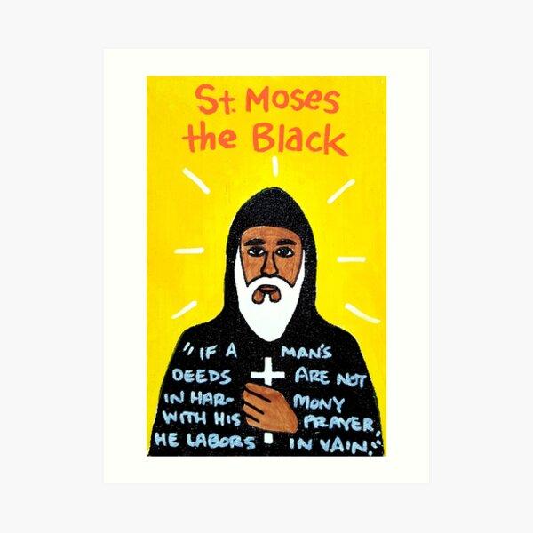 St. Moses the Black Religious Folk Art Art Print