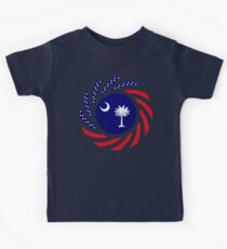 South Carolina Murican Patriot Flag Series Kids Tee