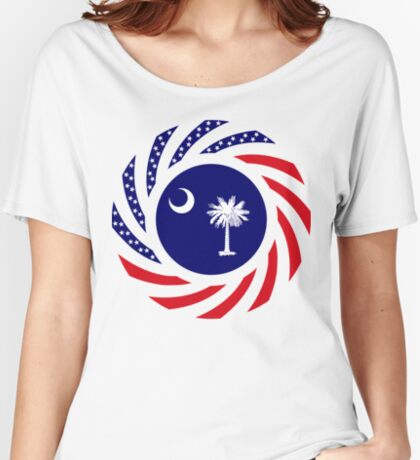 South Carolina Murican Patriot Flag Series Relaxed Fit T-Shirt